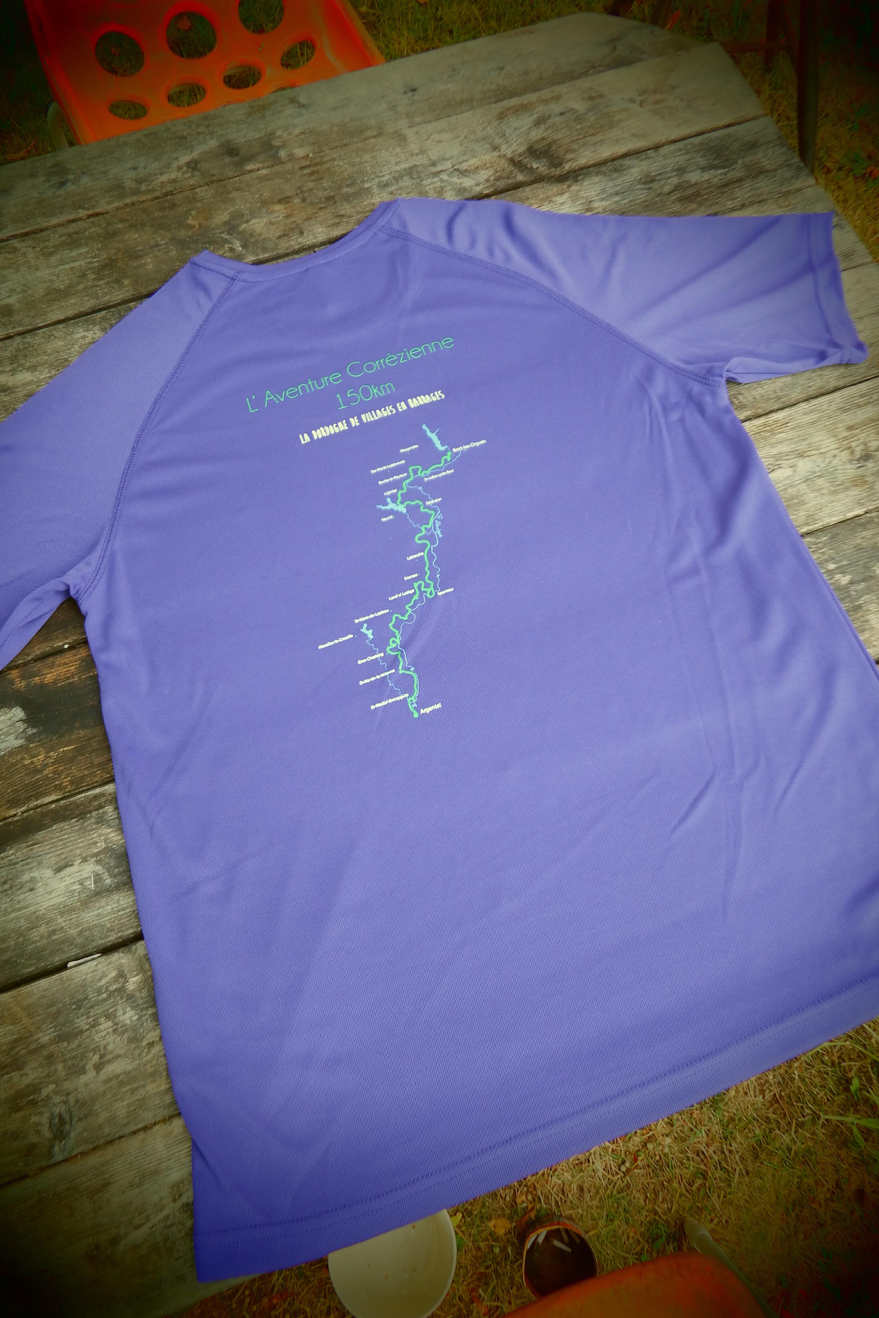 T-shirt La Dordogne de Villages en Barrages homme