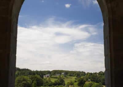 Vue sur la campagne depuis l'église de Liginiac © Chris Bogaerts