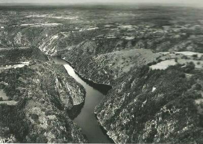 Vue Aérienne De Vallee De La Dordogne Site De Saint Nazaire